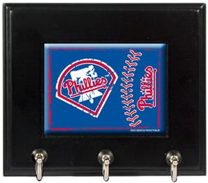 MLB Philadelphia Phillies Wood Keyhook Rack
