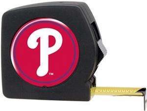 MLB Phillies 25' Tape Measure w/Crystal Coat Logo