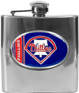 MLB Phillies 6oz Stainless Steel Flask