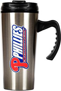 MLB Phillies Stainless Steel 16oz Travel Mug