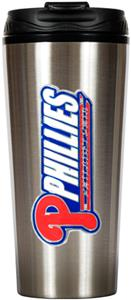 MLB Phillies 16oz Stainless Steel Travel Tumbler