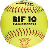 "Worth 11"" RIF 10 ASA ProTac Fastpitch Softballs"