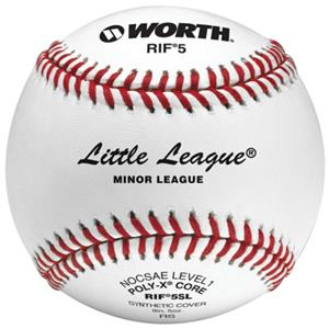 "Worth 9"" RIF 5 Little League Synthetic Baseballs"