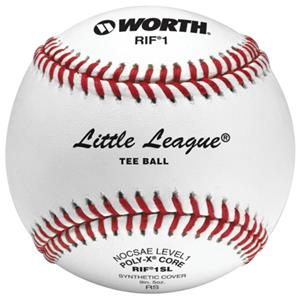 Worth 9&quot; RIF 1 Little League Tee Ball Baseballs