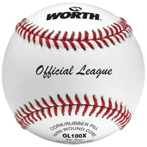 "Worth 9"" Official League OL100X Practice Baseballs"