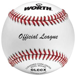 "Worth 9"" Official League OLCCX Practice Baseballs"