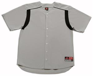 A4 Full Button Short Sleeve Knit Baseball Jerseys