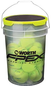 "Worth FPEX 6 Gallon Bucket of 12"" FPEX Softballs"