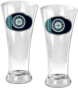 MLB  Seattle Mariners 2 Piece Pilsner Glass Set