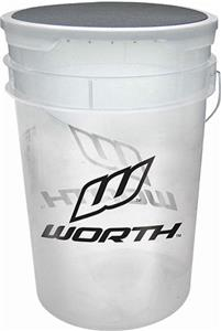 Worth 6 Gallon Bucket for Baseballs/Softballs 6PK