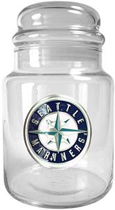 MLB Seattle Mariners Glass Candy Jar