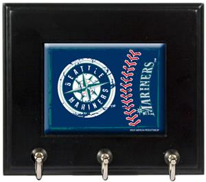 MLB Seattle Mariners Wood Keyhook Rack