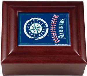 MLB Seattle Mariners Mahogany Keepsake Box
