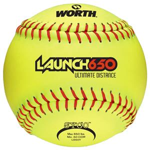 "Worth 12"" Launch 650 Ultimate Distance Softballs"