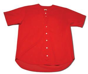 A4 Full Button Short Sleeve Baseball Jersey Shirt