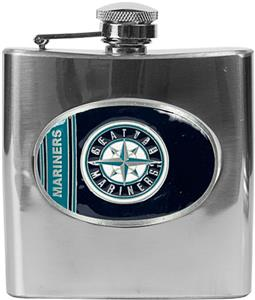 MLB Seattle Mariners 6oz Stainless Steel Flask