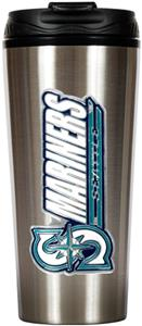 MLB Mariners 16oz Stainless Steel Travel Tumbler