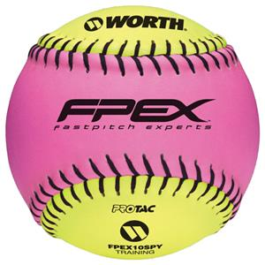 "Worth 10"" FPEX ProTac Training Fastpitch Softballs"