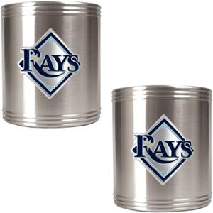 MLB Tampa Bay Rays Stainless Steel Can Holders