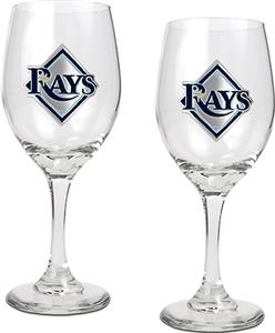 MLB Tampa Bay Rays 2 Piece Wine Glass Set