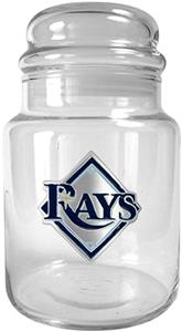 MLB Tampa Bay Rays Glass Candy Jar