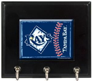 MLB Tampa Bay Rays Wood Keyhook Rack