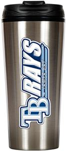 MLB Devil Rays 16oz Stainless Steel Travel Tumbler