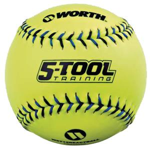 "Worth 5-Tool Training 11"" Reaction Softballs"