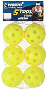 "Worth 5-Tool Training 6Pk 12"" Plastic Softballs"