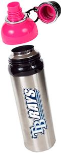 MLB Devil Rays Stainless Water Bottle Pink Top