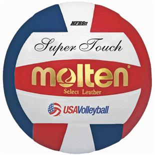 Molten Red/White/Blue Super Touch Volleyballs