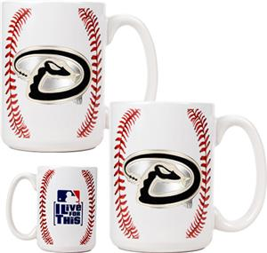 MLB Diamondbacks Ceramic Gameball Mug Set of 2