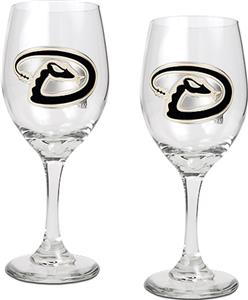 MLB Arizona Diamondbacks 2 Piece Wine Glass Set