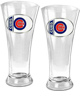 MLB Chicago Cubs 2 Piece Pilsner Glass Set