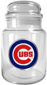 MLB Chicago Cubs Glass Candy Jar