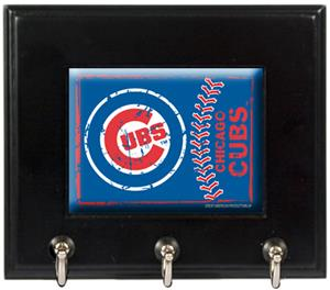 MLB Chicago Cubs Wood Keyhook Rack