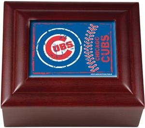 MLB Chicago Cubs Mahogany Keepsake Box
