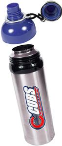 MLB Chicago Cubs Stainless Water Bottle w/Blue Top