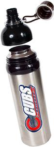 MLB Chicago Cubs Stainless Water Bottle Black Top