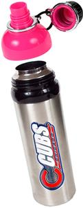 MLB Chicago Cubs Stainless Water Bottle w/Pink Top