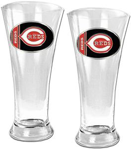 MLB Cincinnati Reds 2 Piece Pilsner Glass Set