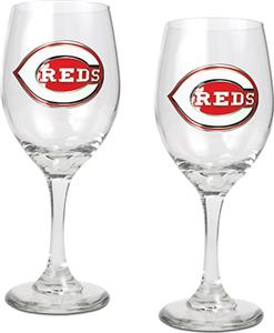 MLB Cincinnati Reds 2 Piece Wine Glass Set