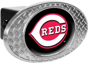 MLB Cincinnati Reds Diamond Plate Hitch Cover