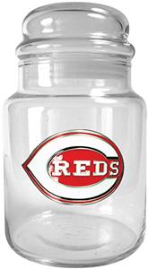 MLB Cincinnati Reds Glass Candy Jar