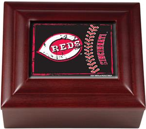 MLB Cincinnati Reds Mahogany Keepsake Box