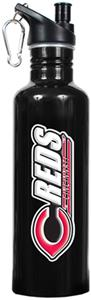 MLB Cincinnati Reds Black Stainless Water Bottle
