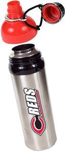 MLB Cincinnati Reds Stainless Water Bottle Red Top