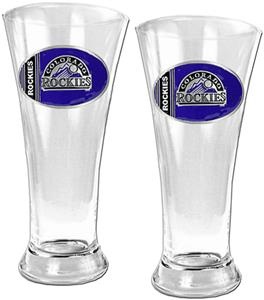 MLB Colorado Rockies 2 Piece Pilsner Glass Set