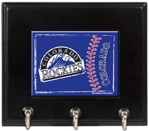 MLB Colorado Rockies Wood Keyhook Rack
