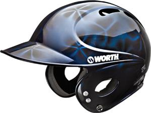 Worth Low Profile 3D Metallic Batter's Helmets